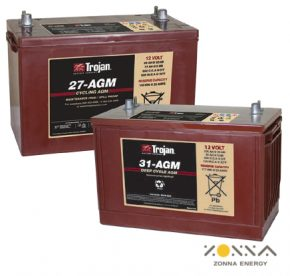 deep cycle solar agm batteries from zonna energy trojan battery distributor